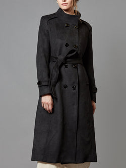 Wool Trench Double-Breasted Jacket