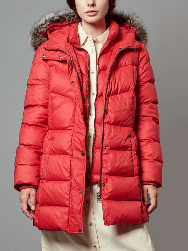 Down Jacket, Parka Coat, with Real Fur Hooded