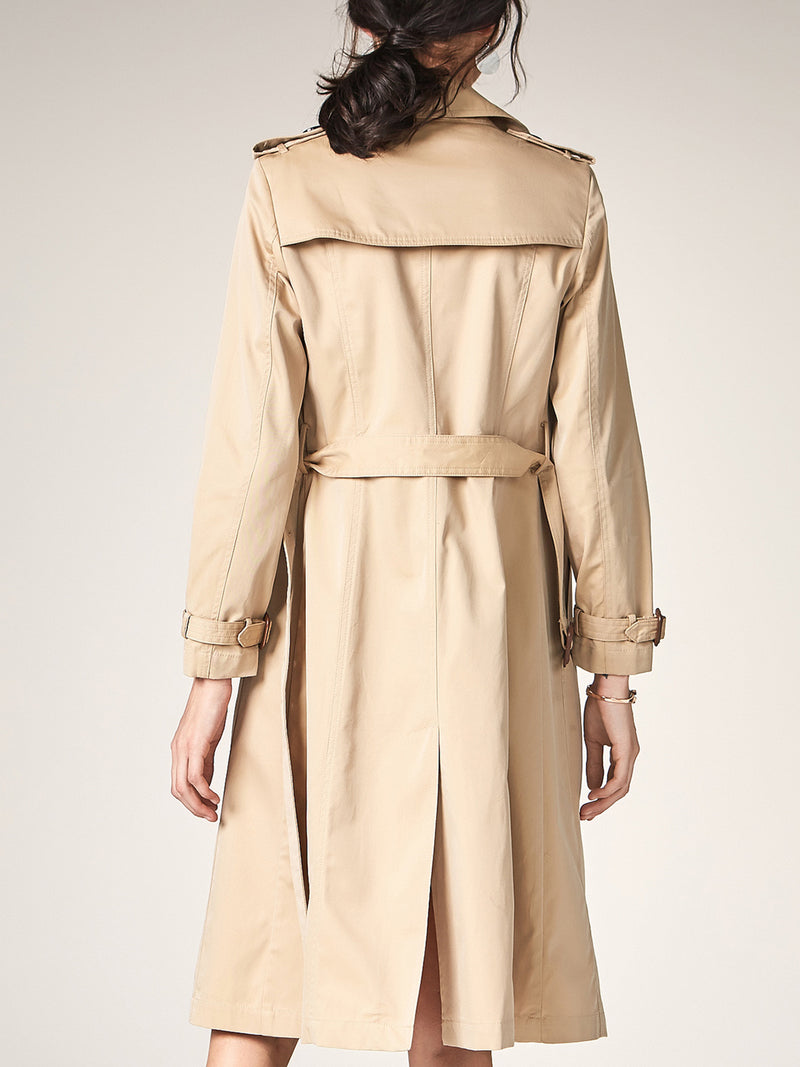 Long Trench Coat with Belt