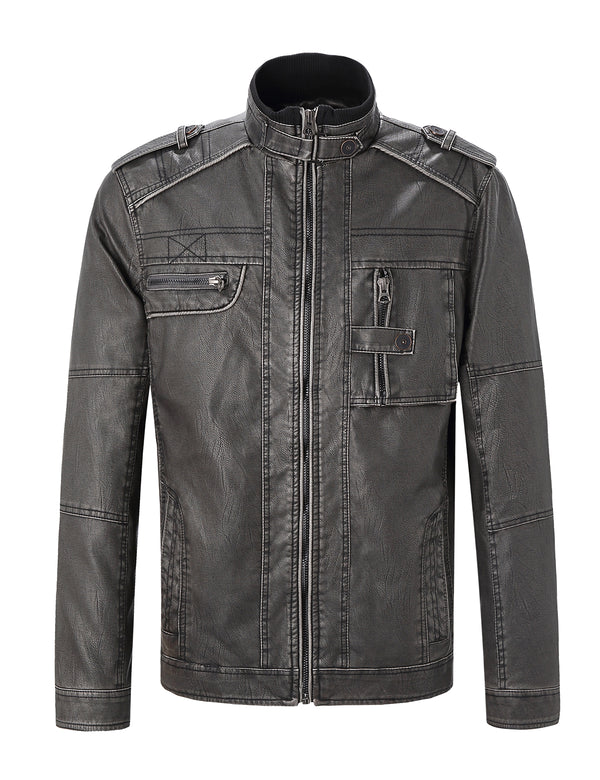 Men's Leather & Faux Leather Jackets & Coats