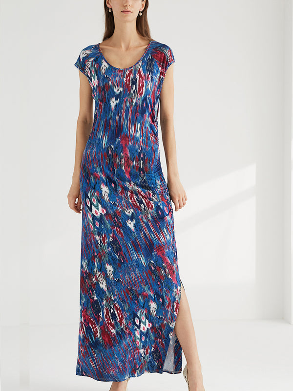 Floral Maxi Split Long Dress