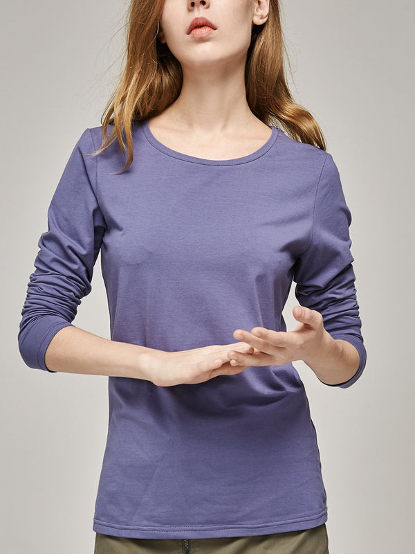 Basic Cotton, Long Sleeve,T-Shirt