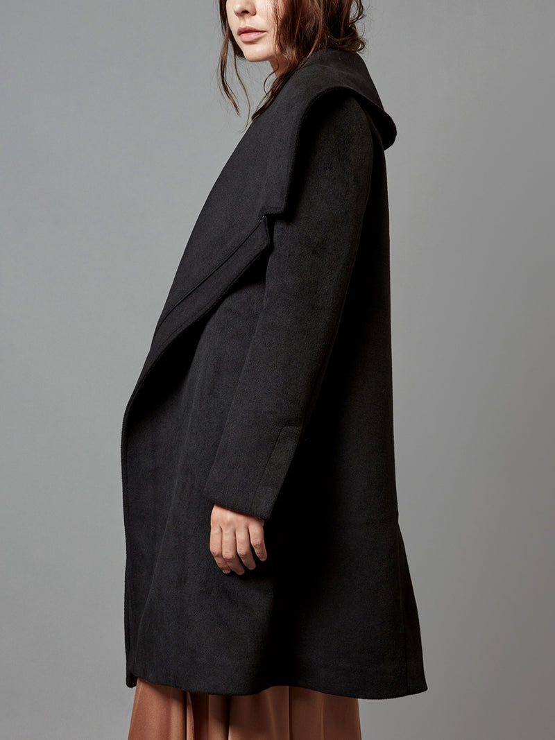 Open Lapel Trench Coat