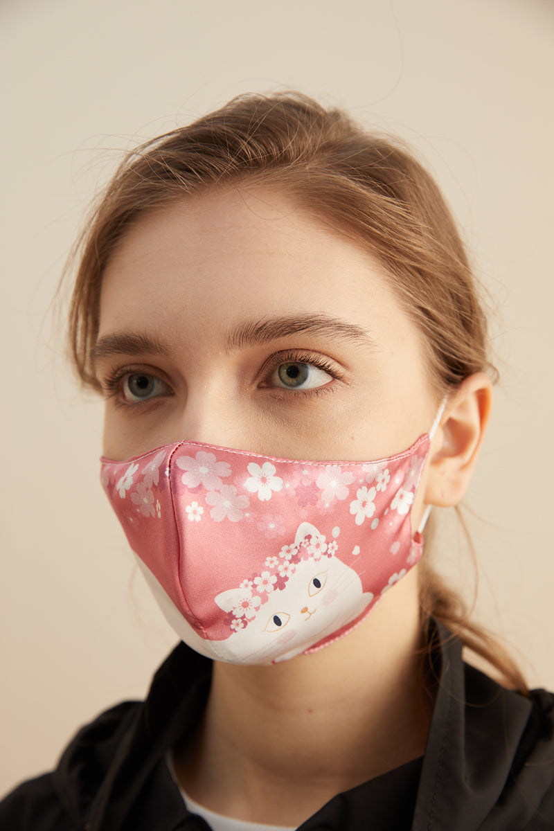 Pink Cat Face Mask