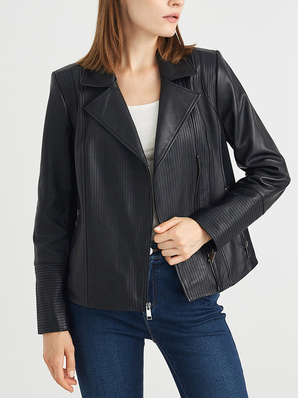 Genuine Leather Jacket, Real Lambskin Leather