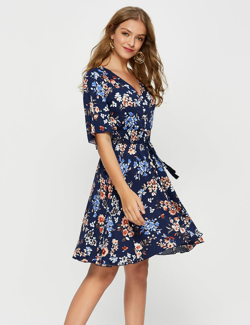 Midi Floral Button Up Dress