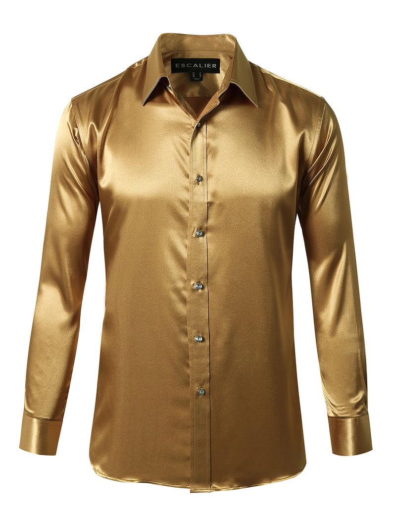 Shiny Silk Prom Dress Shirt