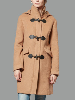 Wool Blended Classic Pea Coat Jacket