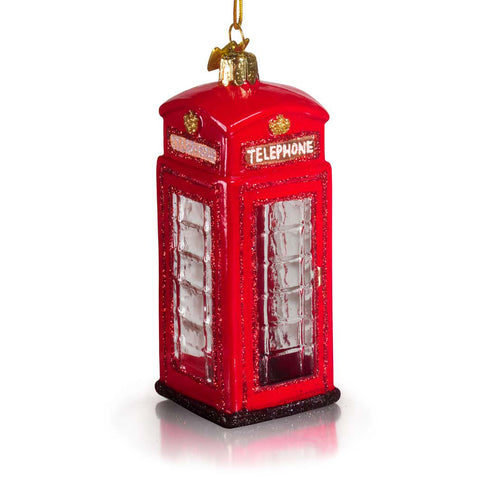King George V Call Box Glass Ornament