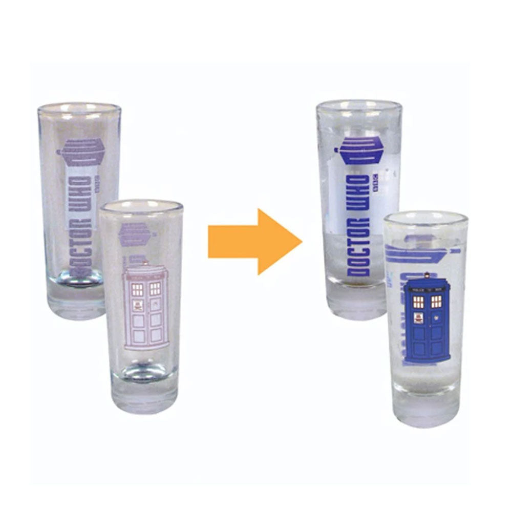 Doctor Who: Color-Changing TARDIS 2 oz. Glass (Set of 4)