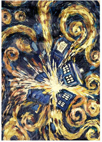 Doctor Who: Exploding TARDIS Beach Towel