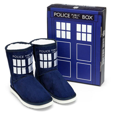 Doctor Who: TARDIS Boot Slippers