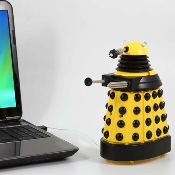 Doctor Who: USB Desk Protector: Yellow Dalek