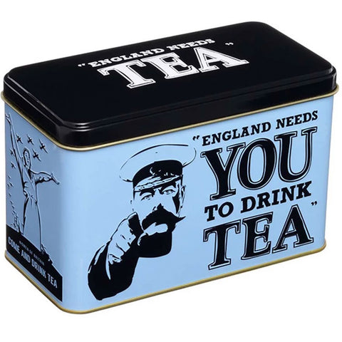 Wartime Vintage England Needs You Tea Tin