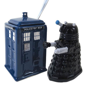 Doctor Who: TARDIS vs Dalek Cream and Sugar set