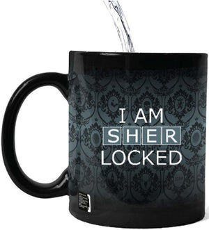 Sherlock: I Am Sherlocked Heat Sensitive Mug: Blue