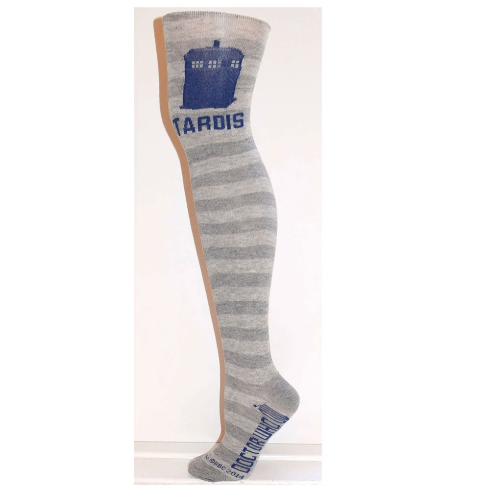Doctor Who: Ladies TARDIS Over-the-Knee Rugby Socks