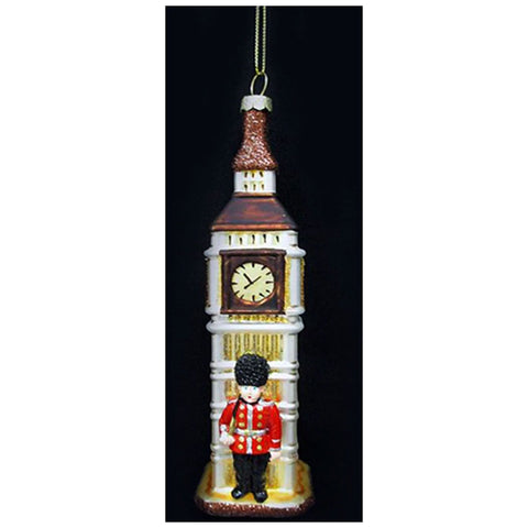 Big Ben and Guard Glass Ornament