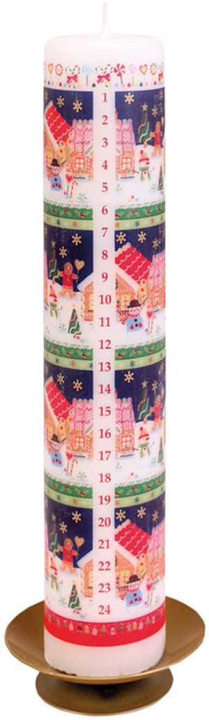 Gingerbread Advent Candle