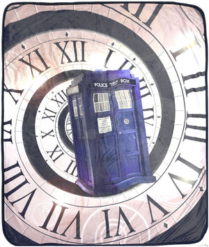 Doctor Who: Velveteen Time Warp Throw