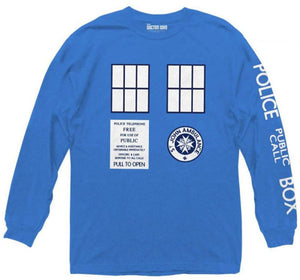 Doctor Who: TARDIS Long-Sleeved Shirt