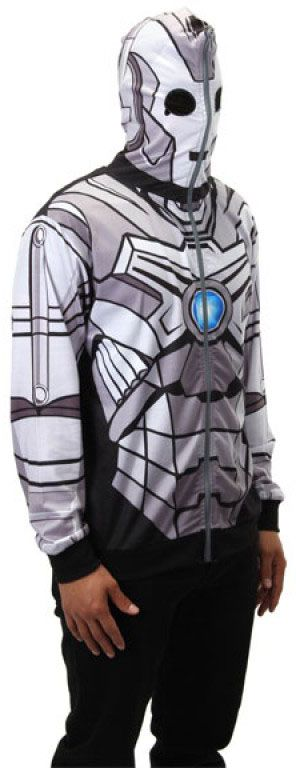Doctor Who: Cyberman Full Zip-Up Hoodie