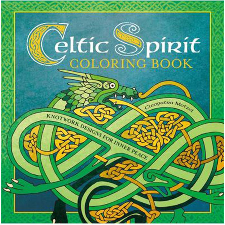 Celtic Spirit Coloring Book: Knotwork Designs for Inner Peace