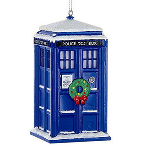 TARDIS with Wreath Ornament