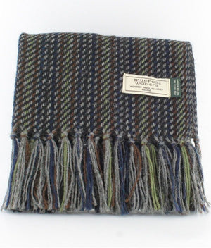 Alpaca Wool Scarf: Multi Colored Stripe