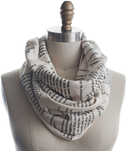 Pride and Prejudice Infinity Book Scarf