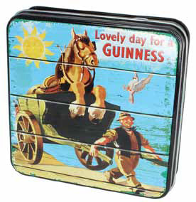Guinness Luxury Fudge and Vintage-Style Tin: Smiling Clydesdale
