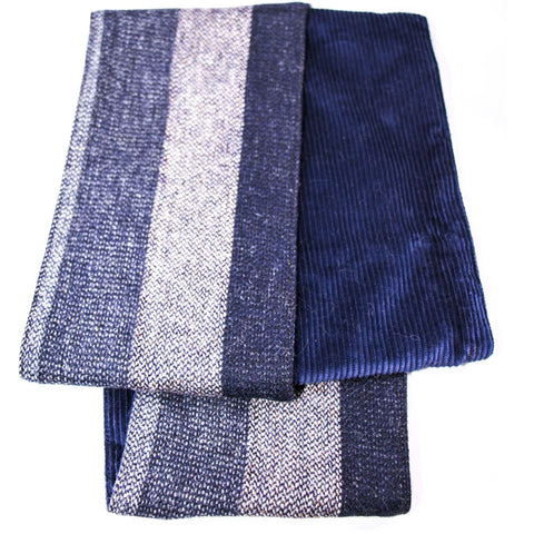 Scarf Striped Grey Patchwork Scarf