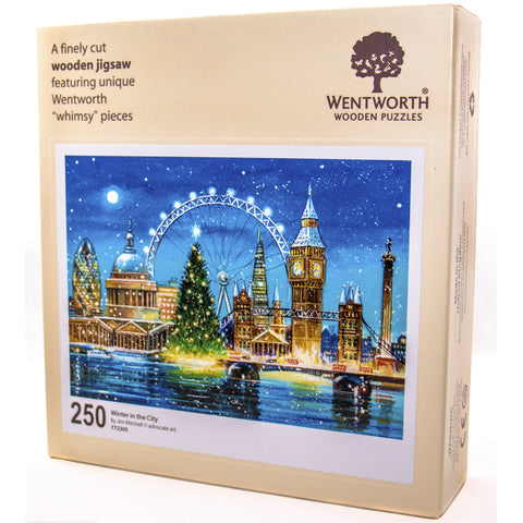 Winter in the City Wooden Jigsaw Puzzle