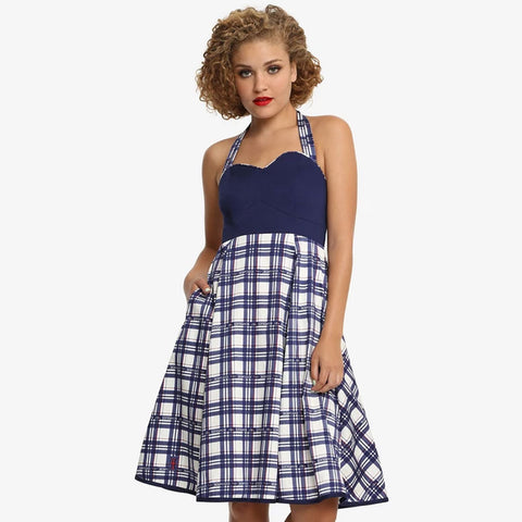 Doctor Who: Plaid Halter Dress