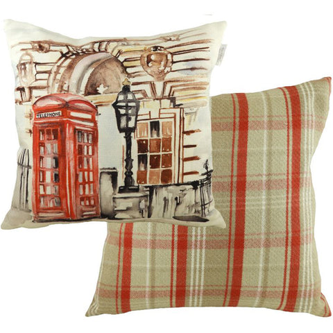 London Throw Pillow: Telephone Box