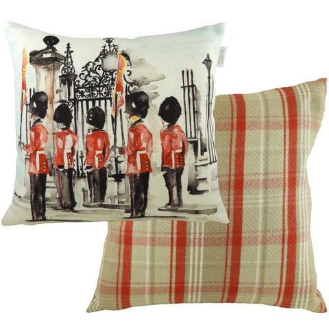 London Throw Pillow: Queen's Guards