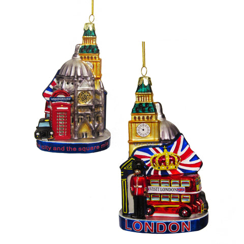 Glass London Cityscape Ornament