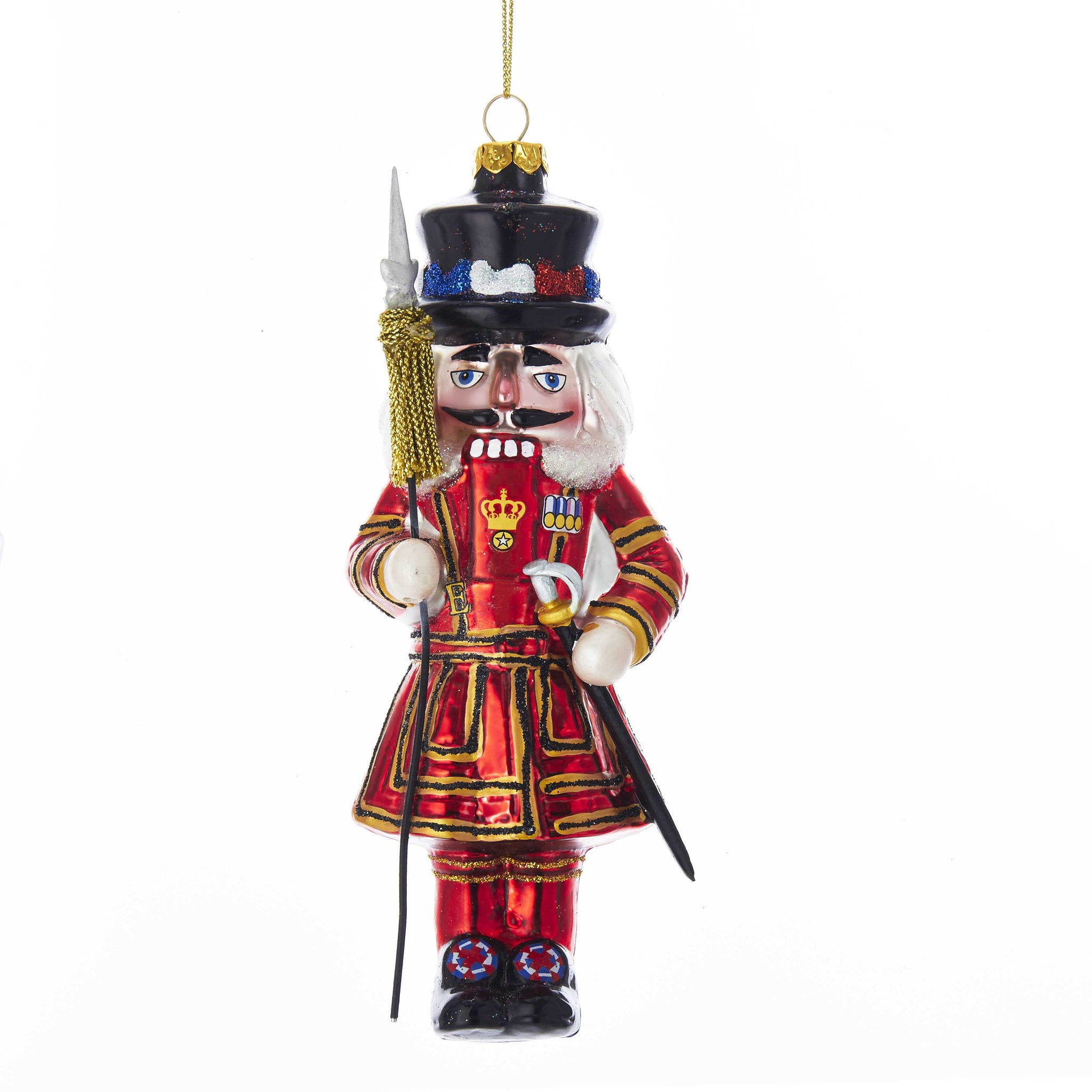 Glass England Beefeater Nutcracker Ornament