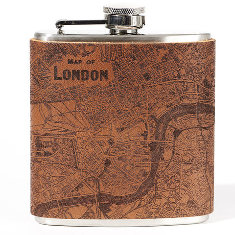London Leather Flask