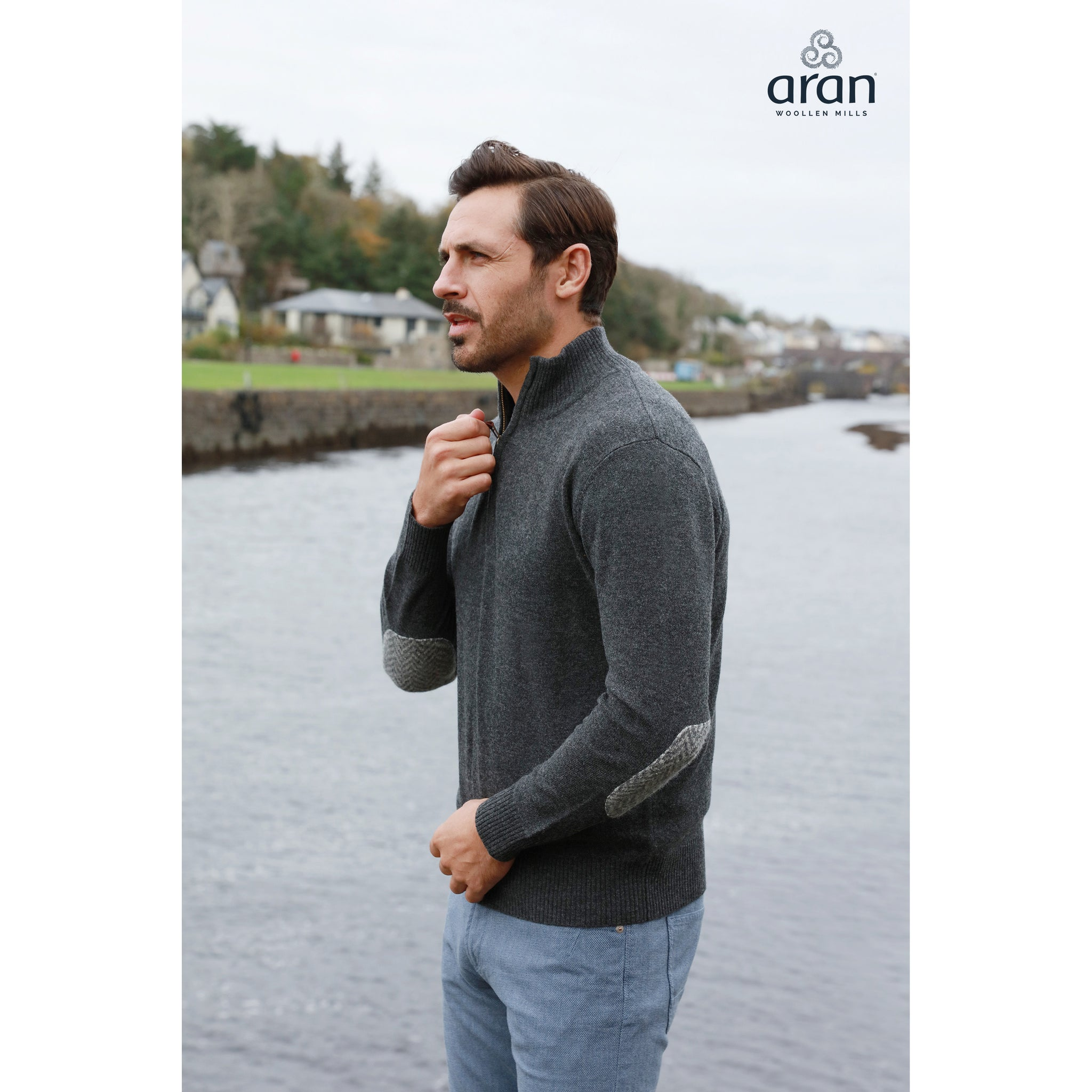 Irish Merino Wool Troyer Sweater