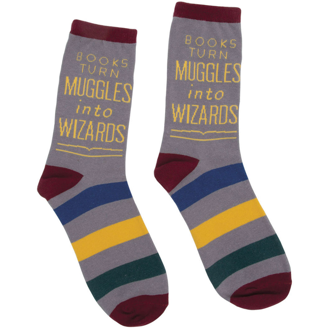 Books Turn Muggles Into Wizards Socks