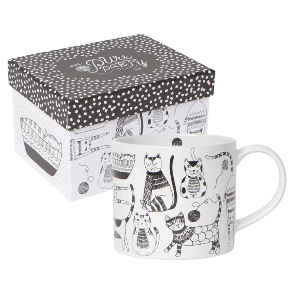 """Purr Party"" Mug-in-a-Box"