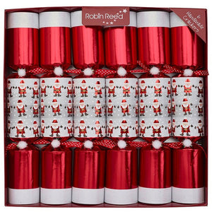 """Racing Santas"" Christmas Crackers"