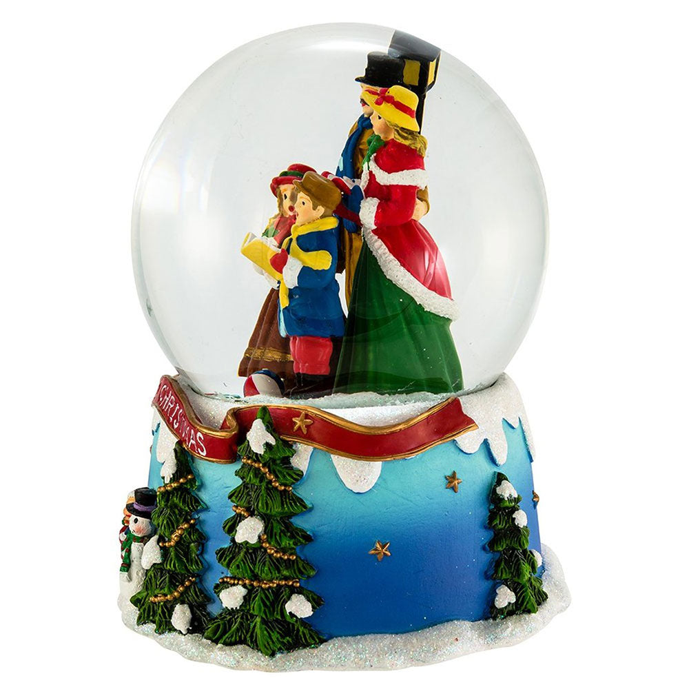 """We Wish You a Merry Christmas"" Musical Snow Globe"
