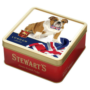 Stewart's Scottish Fudge and British Bulldog Tin