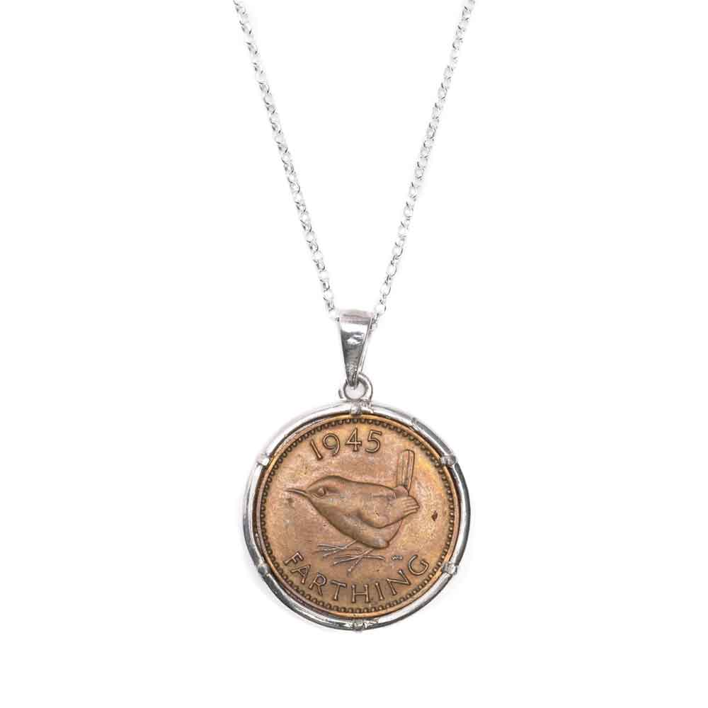 King George VI Farthing Pendant and Necklace