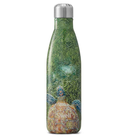 S'well BBC Earth Reusable Water Bottle: Green Turtle