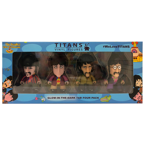 "The Beatles TITANS: 3"" Glow-in-the-Dark Fab Four Pack"