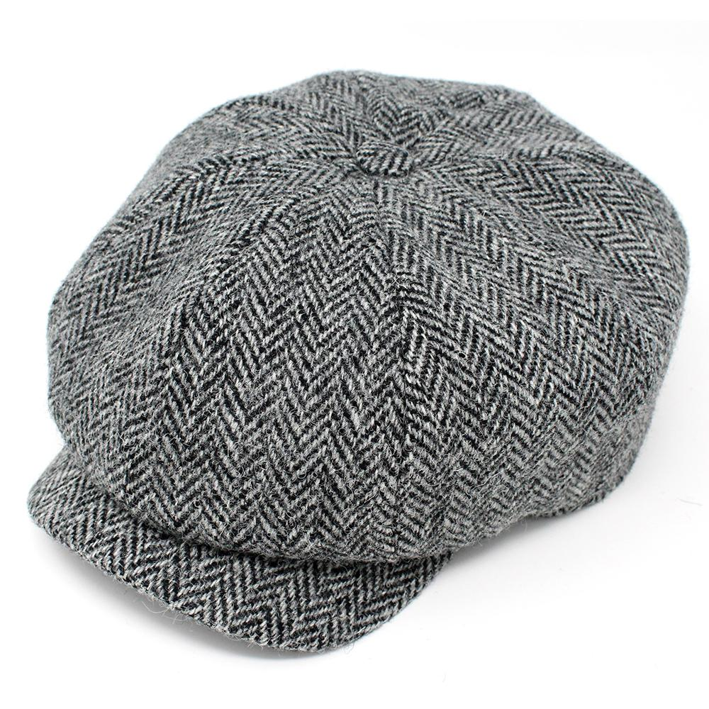 "Donegal  ""JP"" Tweed Cap: Black and White"