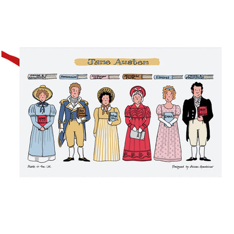 Jane Austen Tea Towel